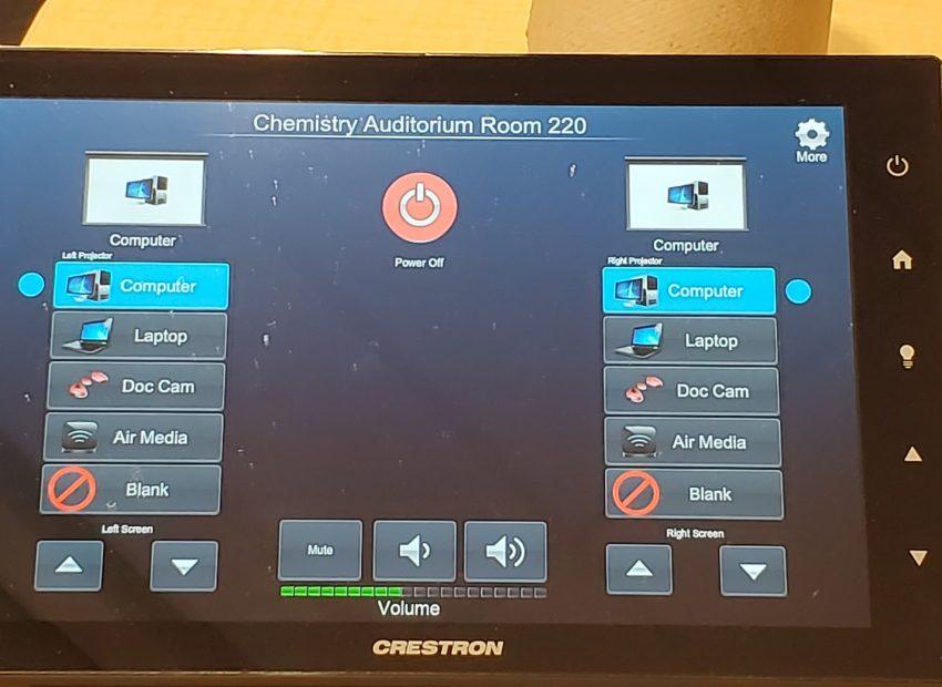 Sheridan Auditorium Projector Sources